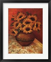 Tuscan Sunflowers II Framed Print