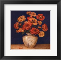 Poppies And Indigo I - Mini Framed Print