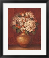 Tuscan Hydrangeas Framed Print