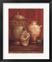 Framed Tuscan Urns I - Mini