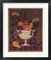 Framed Fruit Flowers I - Mini