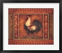 Framed Mediterranean Rooster III