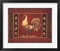 Mediterranean Rooster IV Framed Print