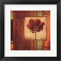 Mediterranean Floral I - Mini Framed Print