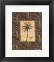 Vintage Palm II - Mini Framed Print
