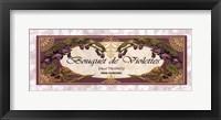 Framed Bouquet De Violettes - Grande