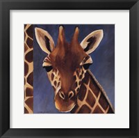 Framed Exotic Giraffe - Mini