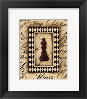 Framed Chess King - Mini