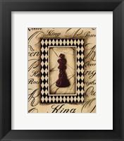 Framed Chess King - Mini