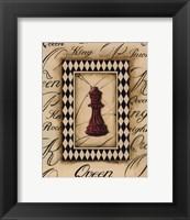 Framed Chess Queen - Mini