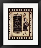 Paris Dress Boutique - Mini Framed Print