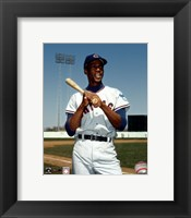 Framed Ernie Banks - Bat on shoulder, posed