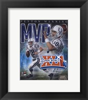 Framed Peyton Manning - '06 SuperBowl XLI MVP Portrait Plus