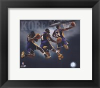 Framed 2007 - Kobe Bryant Multi Exposure