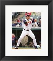 Framed Travis Hafner - 2007 Batting Action