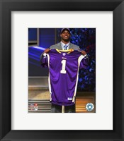 Framed Adrian Peterson - 2007 NFL Draft Day