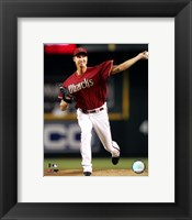 Framed Randy Johnson - 2007 Pitching Action