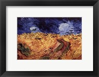 Wheatfield with Crows, c.1890 Framed Print
