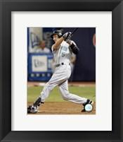 Framed Rocco Baldelli - 2007 Batting Action