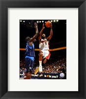 Framed Baron Davis - '07 Playoff Action