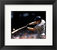 Framed Don Mattingly - 1990 Batting Action