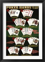 Framed Poker Hands