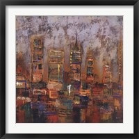 Framed City Lights I