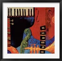 Juxta Jazz III Framed Print