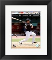 Framed Dan Uggla - 2007 Batting Action