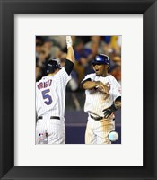 Framed Jose Reyes / David Wright - 2007 Celebration Group Shot