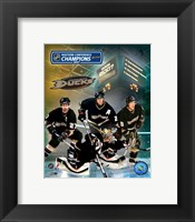 Framed 2007 - Ducks Western Conf. Champs /  Big 4