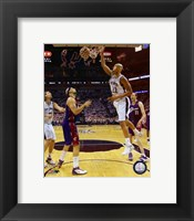 Framed Tim Duncan - 2007 Finals  / Game 1 Action (#4)