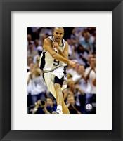 Framed Tony Parker - 2007 Finals  / Game 1 Celebrates (#1)