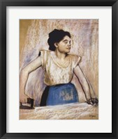 Framed Girl At Ironing Board