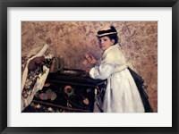 Framed Portrait of Mademoiselle Hortense Valpin