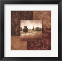 Framed Poppy Fields I