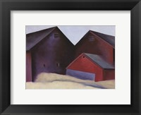 Framed Ends of Barns, 1922
