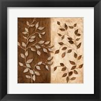 Framed Russet Leaf Garland I