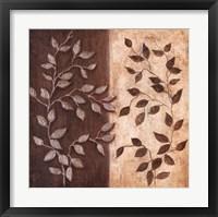 Russet Leaf Garland I Framed Print
