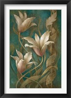 Framed Tulips on Teal