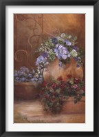 Twilight Courtyard I Framed Print
