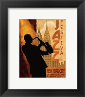 1962 Jazz in New York Framed Print
