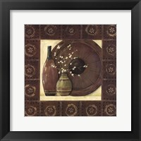 Asian Still Life With Border I Framed Print