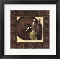 Asian Still Life With Border II Framed Print
