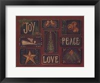 Framed Joy Peace Love