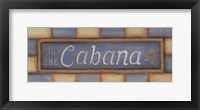 To The Cabana Framed Print
