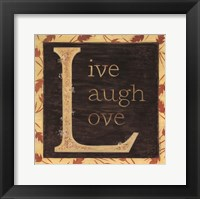 Framed Live Laugh Love