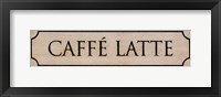 Caffé Latte Framed Print