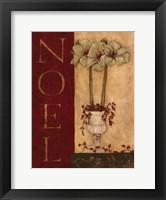 Framed Noel - with flowers