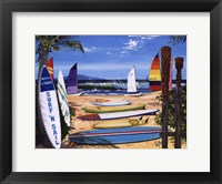Framed Surf 'N Sail